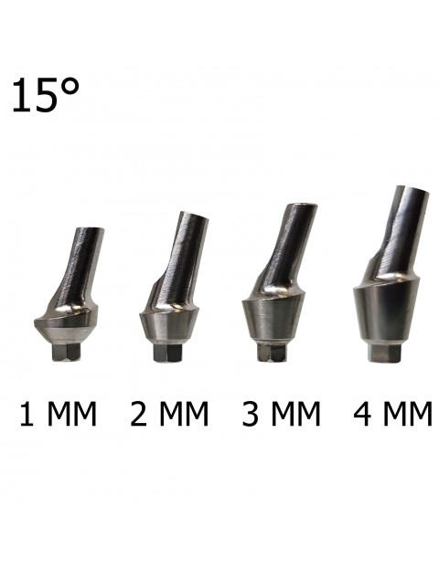 Angled 15 deg Anatomic Titanium Abutment 1-4mm