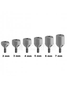 Healing Cap Wide 2-7 mm Titanium Abutment Ø 5.5 mm