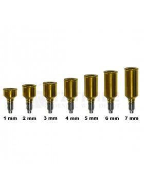 Flat ( Locator ) Titanium Abutment 1-7 mm