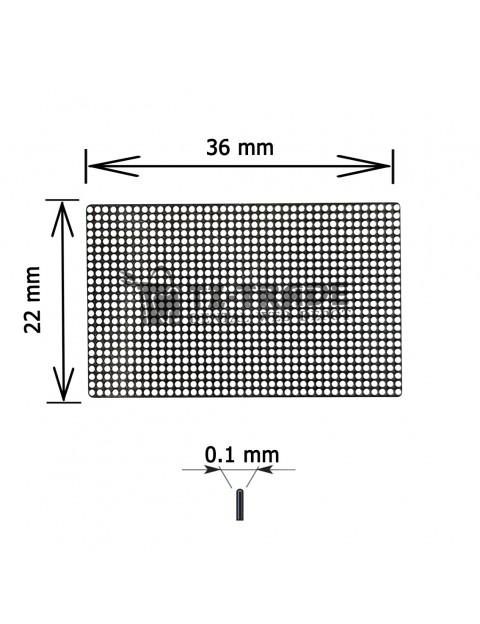 Titanium Mesh 36x22x01 pore 0.6 Membrane not sterile