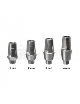 Straight Shoulder Titanium Abutment 1-4mm Short
