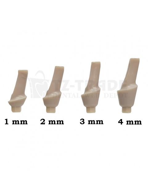 15° Angulated Temporary Peek Abutment 1-4mm