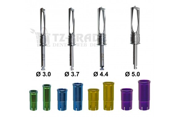Dental Implant Bone Collector Chip Marker Drill With 2 Stoppers