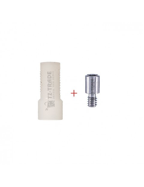 Plastic sleeve with screw 1.4 mm for multi unit