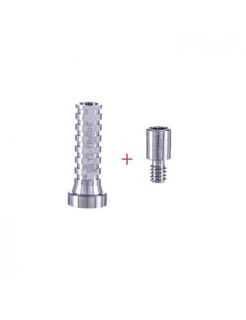 Titanium sleeve with screw 1.4 mm for multi unit