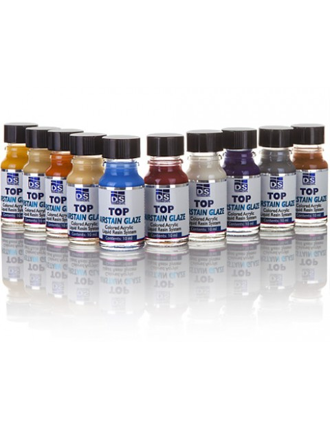 Self Cure Colored Acrylic Liquid Stain Top Airstain Glaze