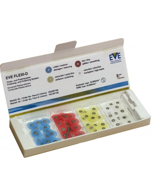 Flexible polishing discs for application on composite EVE Flexi-D set