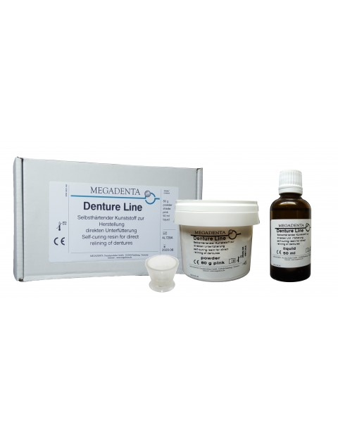 Self curing resin for direct relining ( hard ) Denture Line